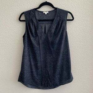 Gap Sleeveless Pleated Ruffle Top